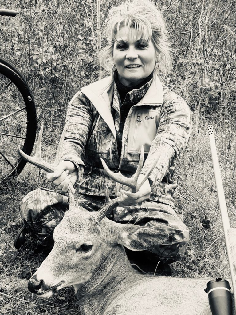 Mel with a whitetail